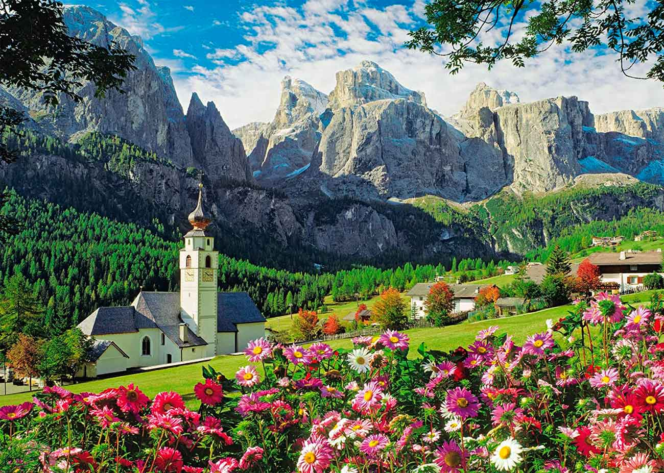 Puzzle King Dolomitas, Kollfuchs, Italia de 1000 Piezas