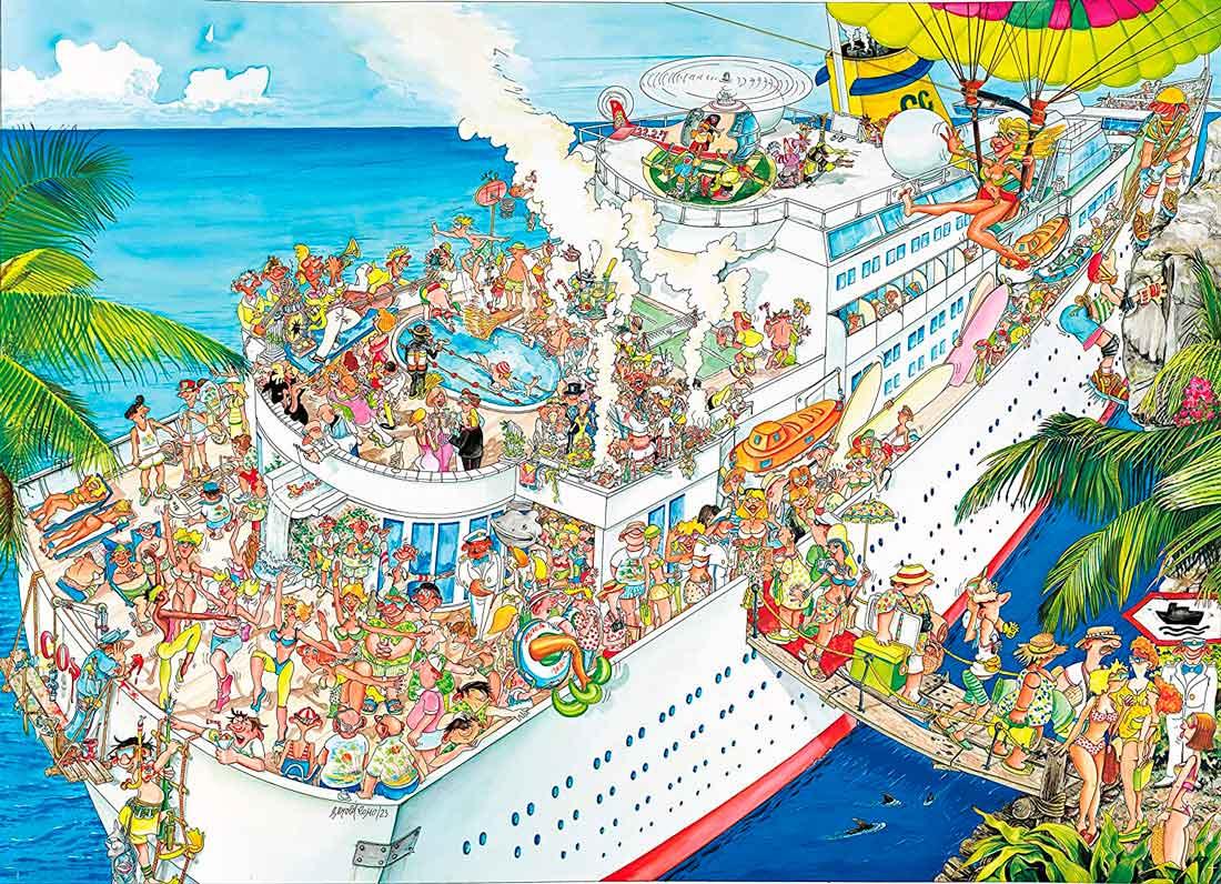 Puzzle King El Crucero de 1000 Piezas