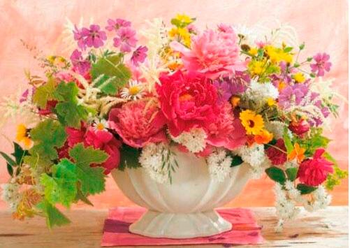 Puzzle King El Lenguaje de las Flores de 1000 Piezas