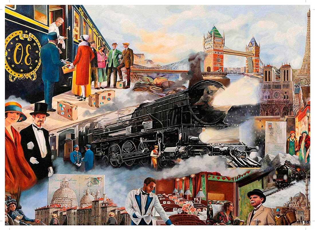 Puzzle King El Orient Express de 1000 Piezas
