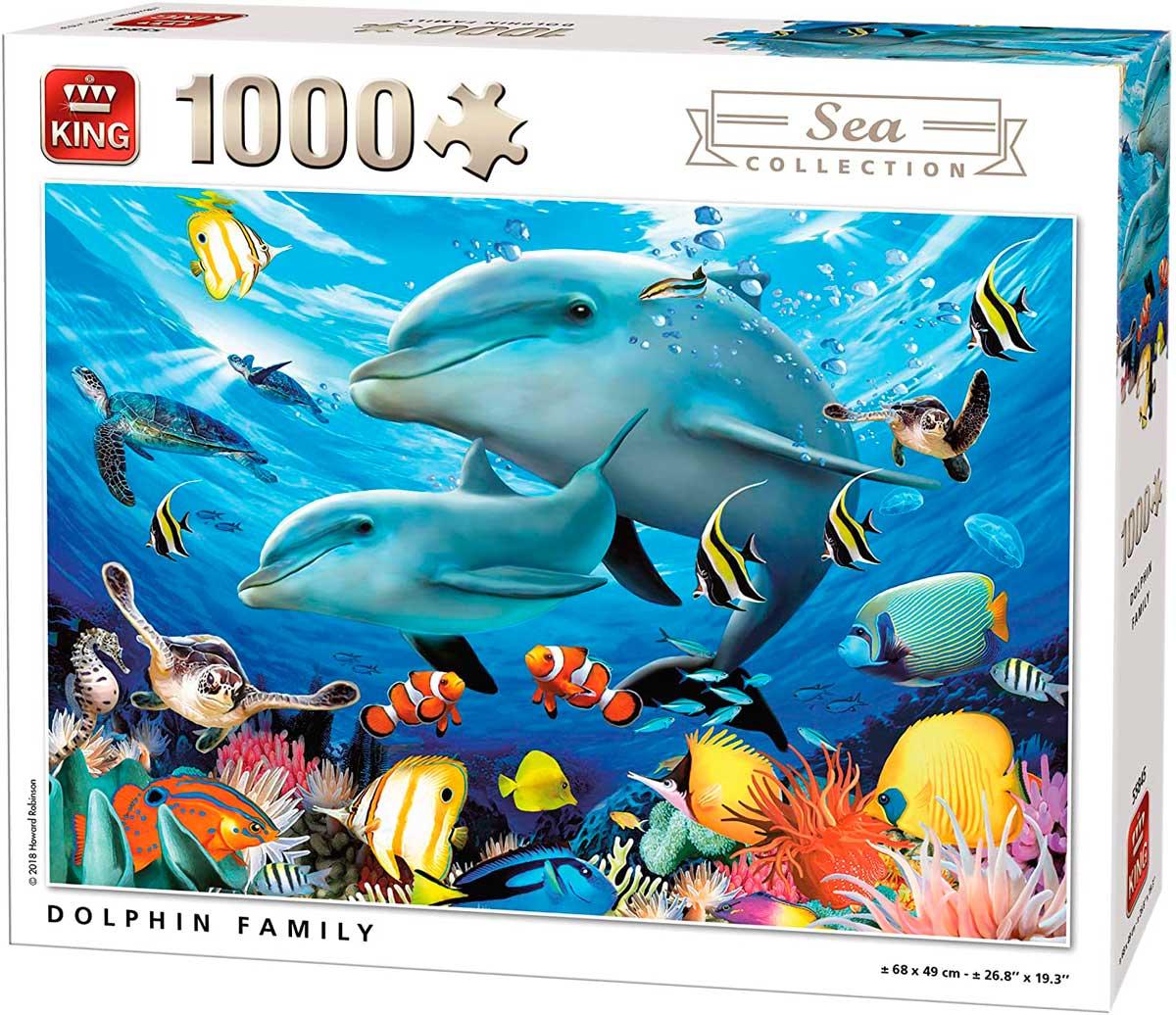 Puzzle King Familia de Delfines de 1000 Piezas