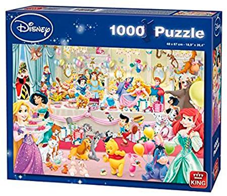 Puzzle King Feliz Cumpleaños Disney de 1000 Piezas