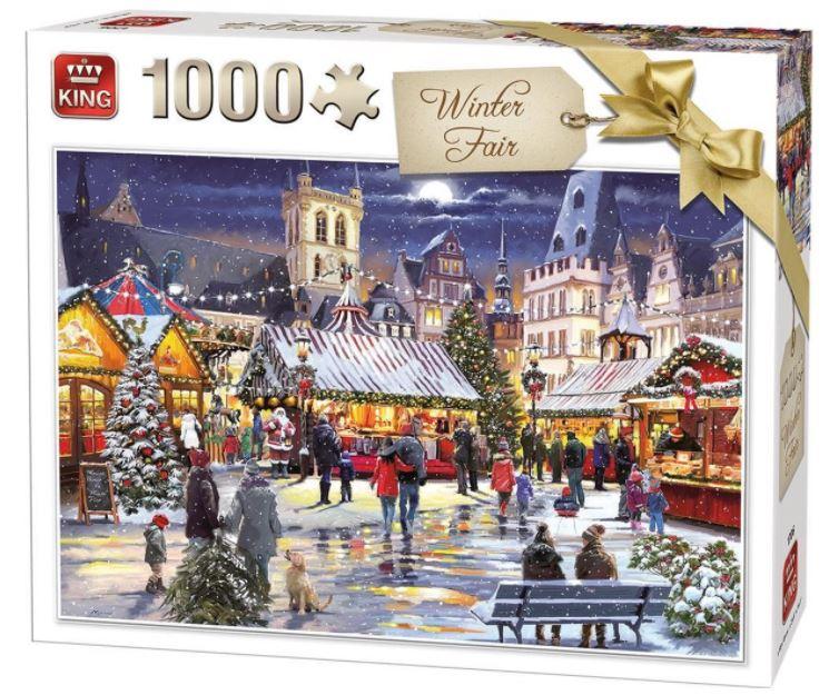 Puzzle King Feria de Invierno de 1000 Piezas