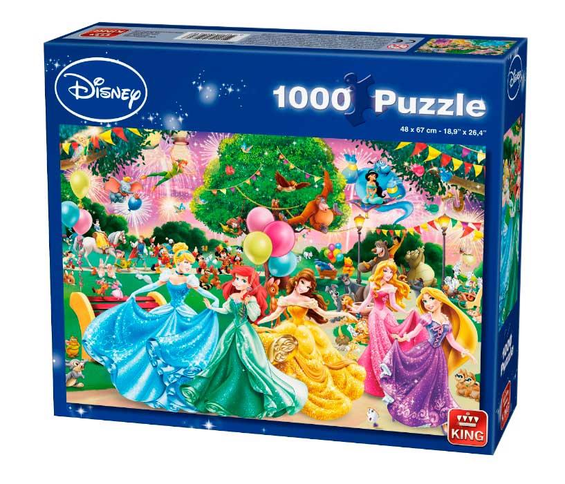 Puzzle King Fiesta de Princesas de Disney 1000 Piezas