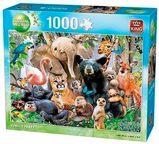 Puzzle King Fiesta en la Jungla de 1000 Piezas