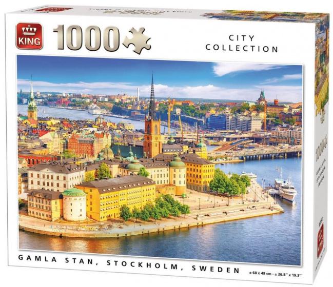 Puzzle King Gamla Stan, Estocolmo de 1000 Piezas