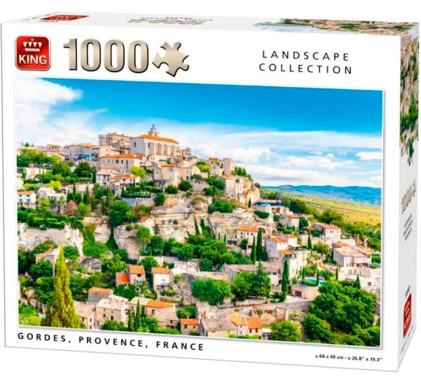 Puzzle King Gordes Provenza de Francia de 1000 Piezas