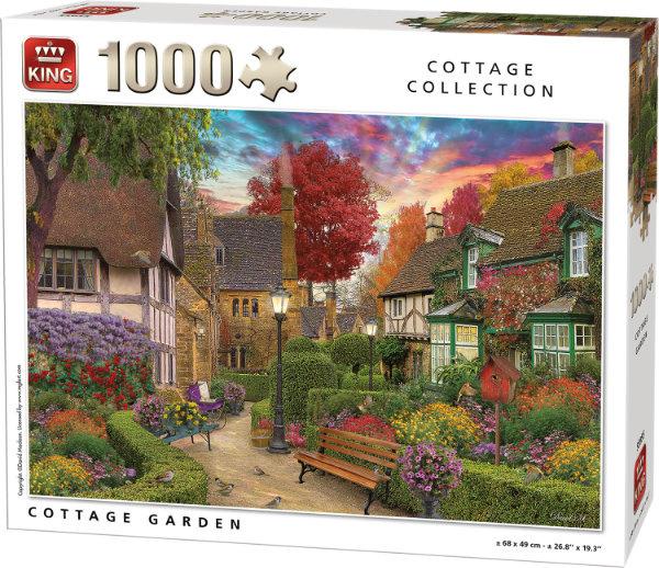 Puzzle King Jardín de las Casas de Campo de 1000 Piezas