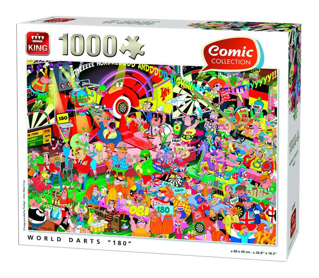 Puzzle King Mundo de los Dardos 180 de 1000 Piezas