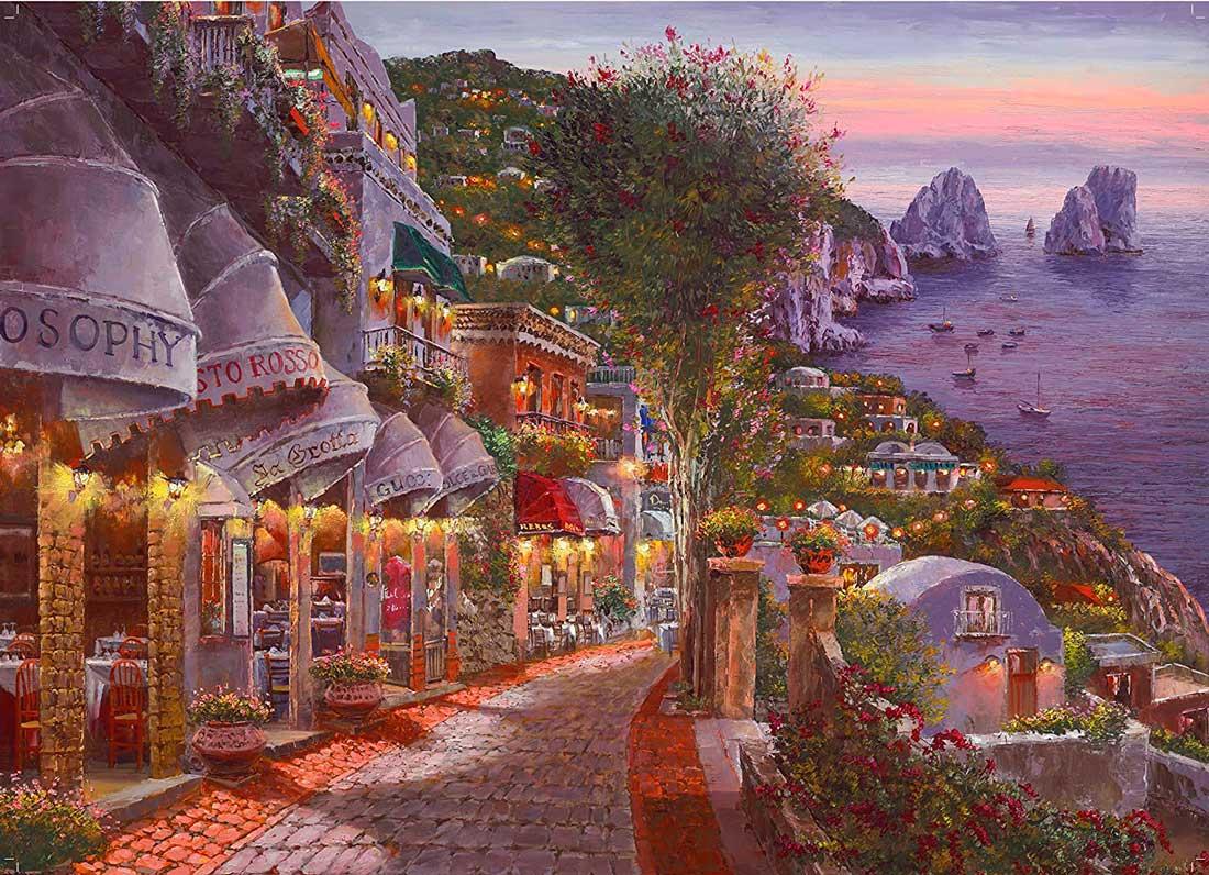 Puzzle King Noche en Capri de 1000 Piezas