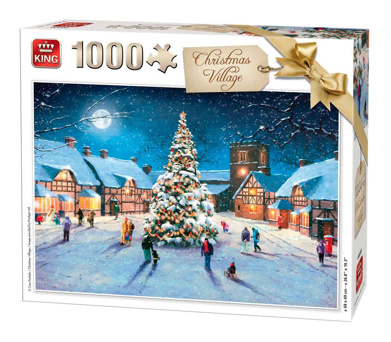 Puzzle King Pueblo de Navidad de 1000 Piezas