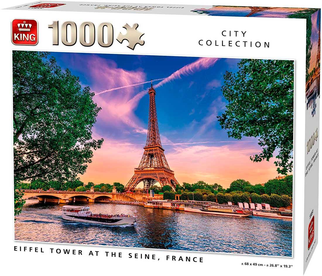 Puzzle King Torre Eiffel en el Sena de 1000 Piezas