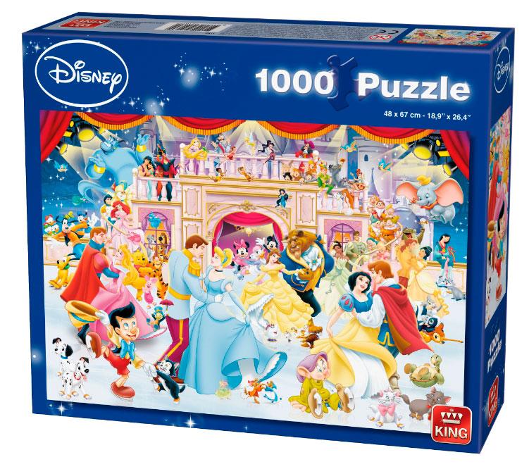 Puzzle King Vacaciones Disney Sobre Hielo de 1000 Piezas