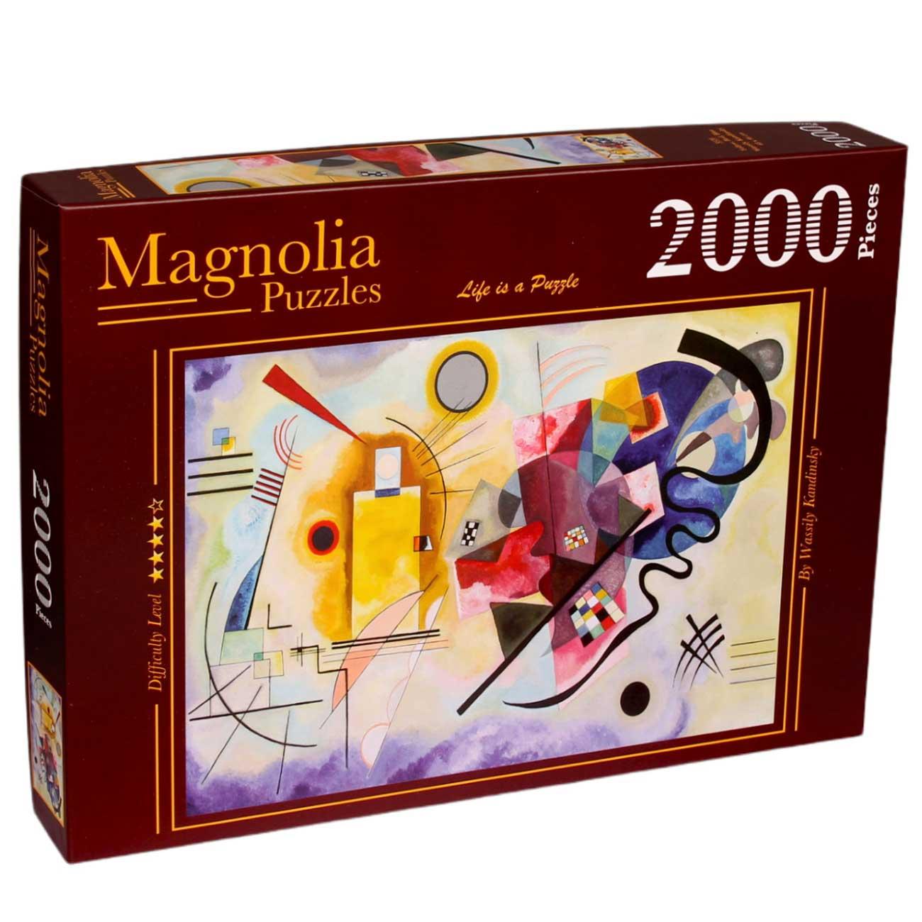 Puzzle Magnolia Amarillo, Rojo y Azul de 2000 Piezas