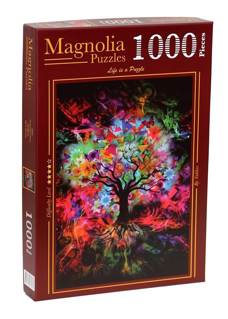 Puzzle Magnolia Árbol de Colores de 1000 Piezas