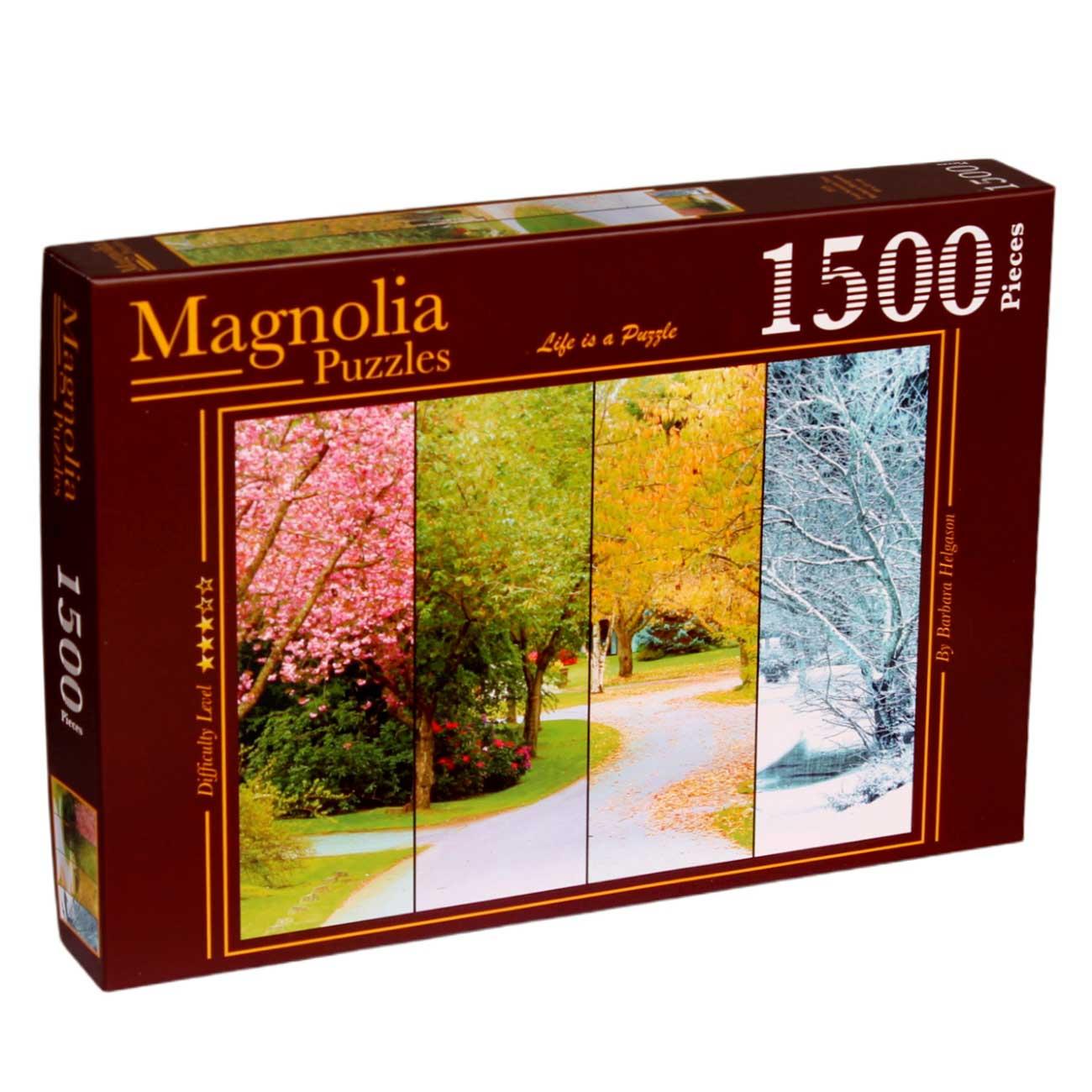 Puzzle Magnolia Árbol de las Cuatro Estaciones de 1500 Piezas