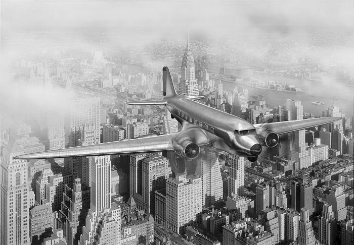 Puzzle Magnolia Avión sobre Nueva York de 2000 Piezas