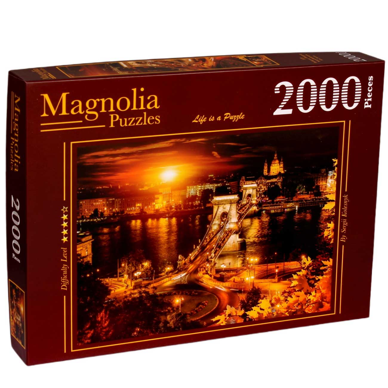 Puzzle Magnolia Budapest, Hungría de 2000 Piezas