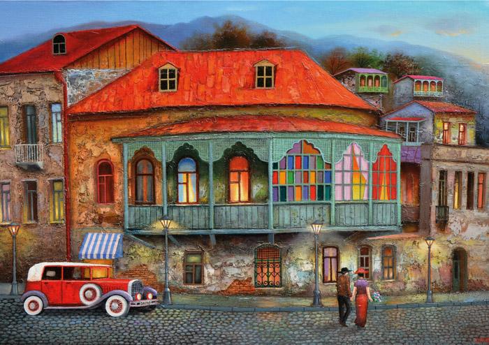 Puzzle Magnolia Calle de Old Tbilisi de 1000 Piezas