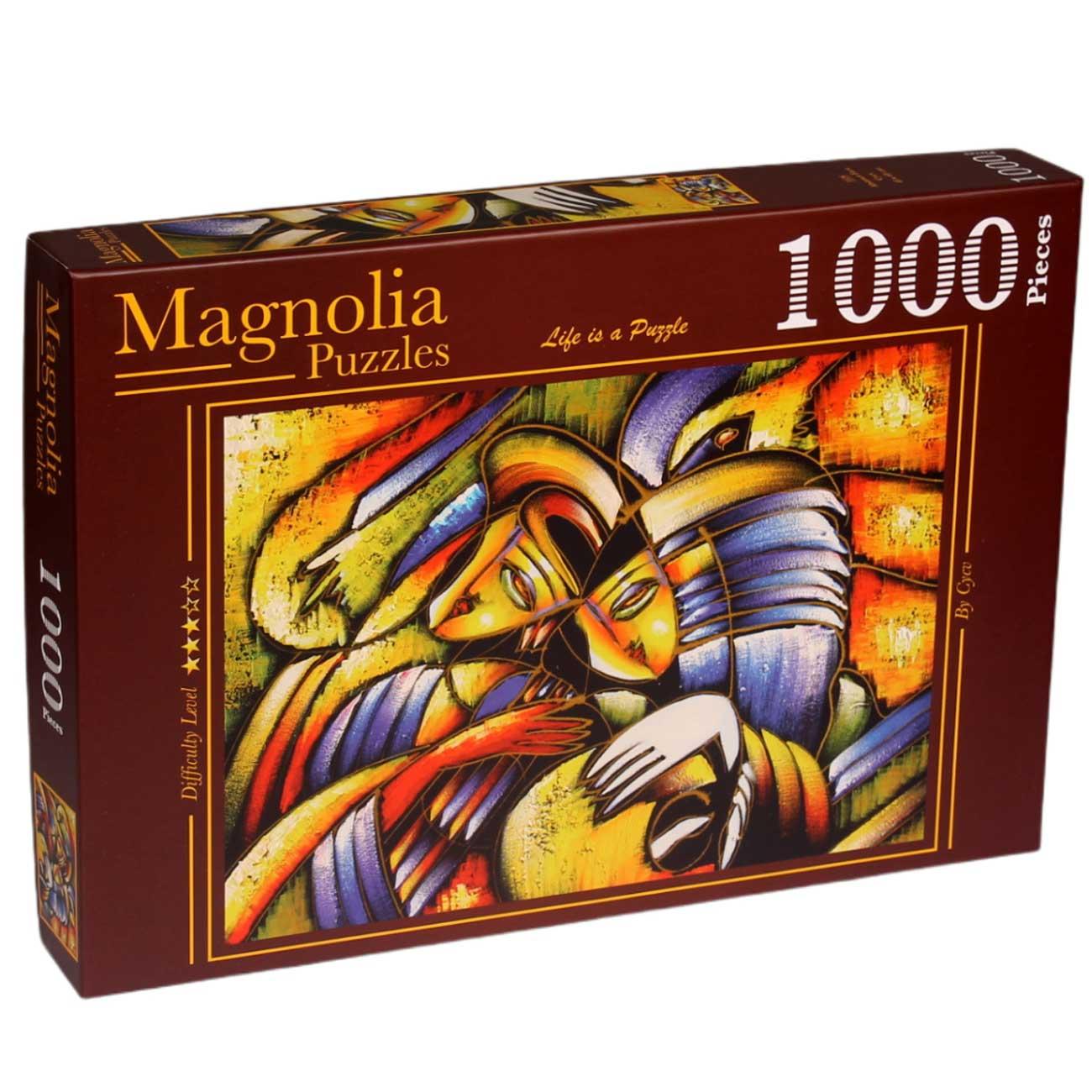 Puzzle Magnolia Cara Abstracta de 1000 Piezas
