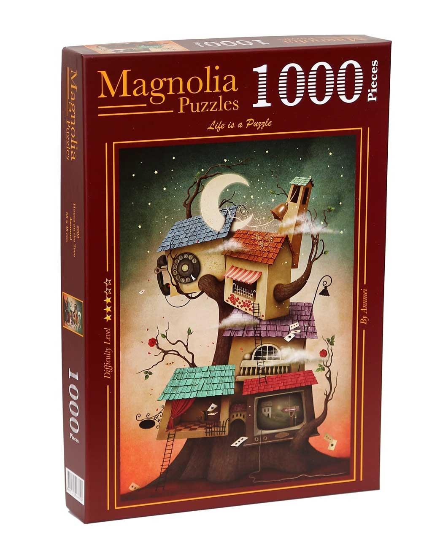 Puzzle Magnolia Casa del árbol de 1000 Piezas