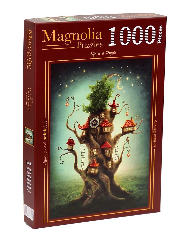Puzzle Magnolia Casa del Árbol Mágico de 1000 Piezas