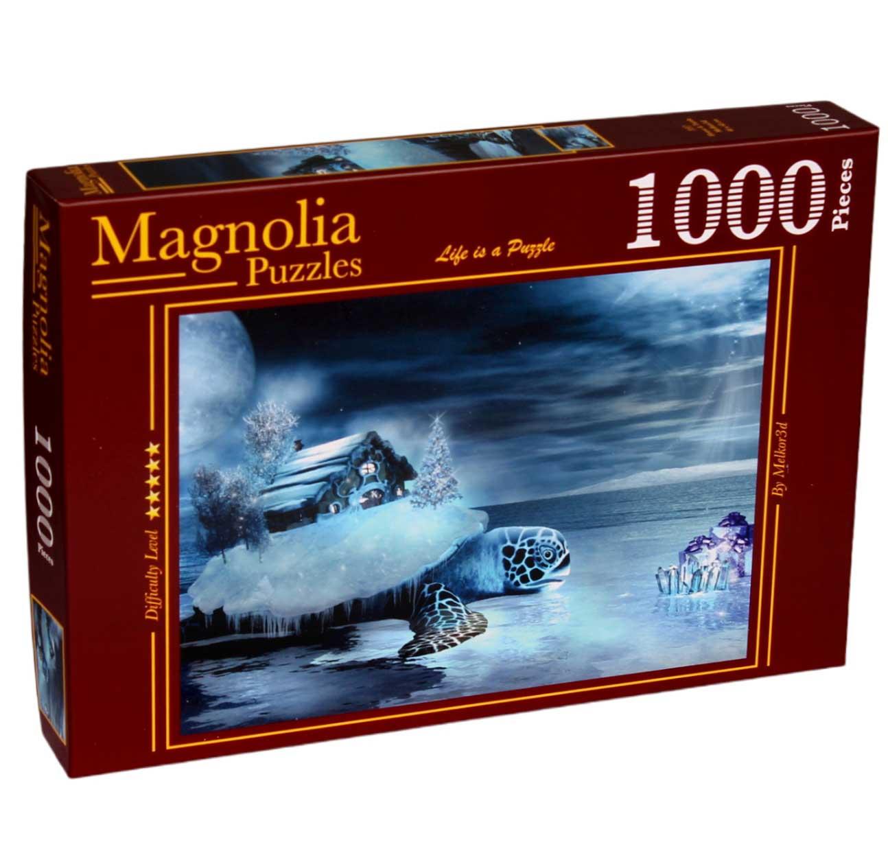 Puzzle Magnolia Casa y Tortuga de 1000 Piezas