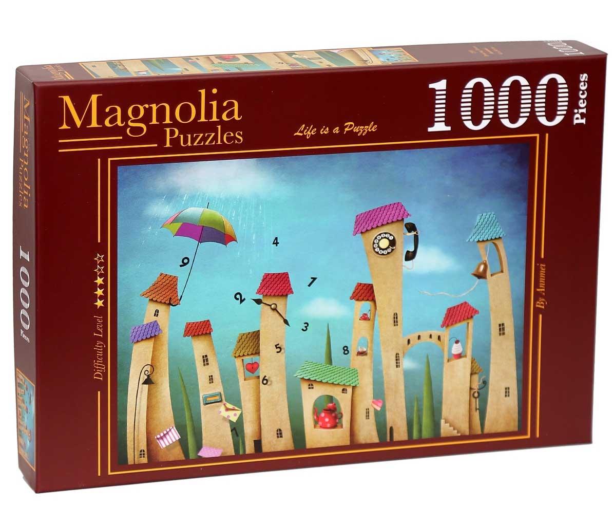 Puzzle Magnolia Dancing Town de 1000 Piezas