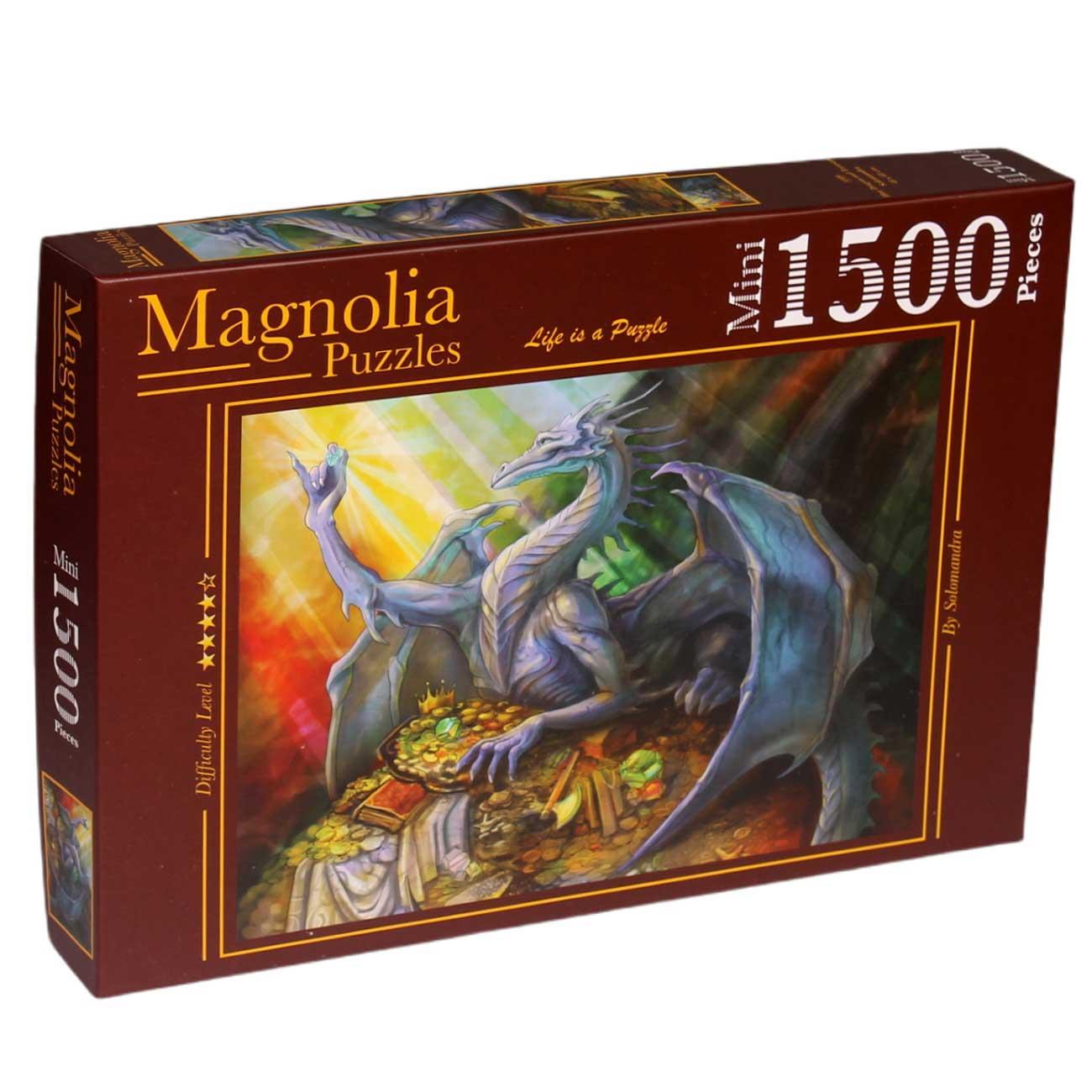 Puzzle Magnolia El Dragón Azul y su Tesoro MINI de 1500 Piezas