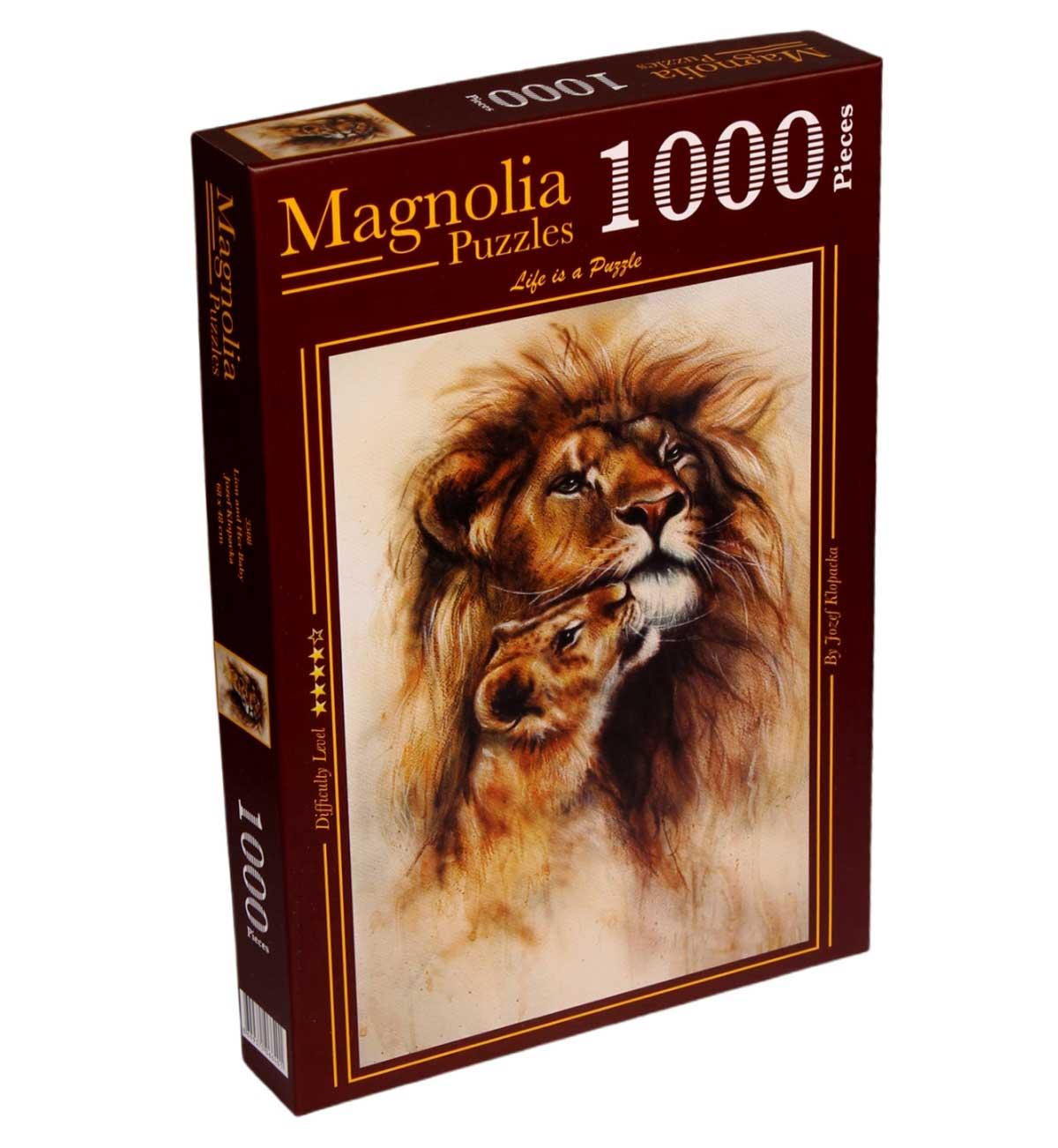 Puzzle Magnolia El León y su Bebé de 1000 Piezas