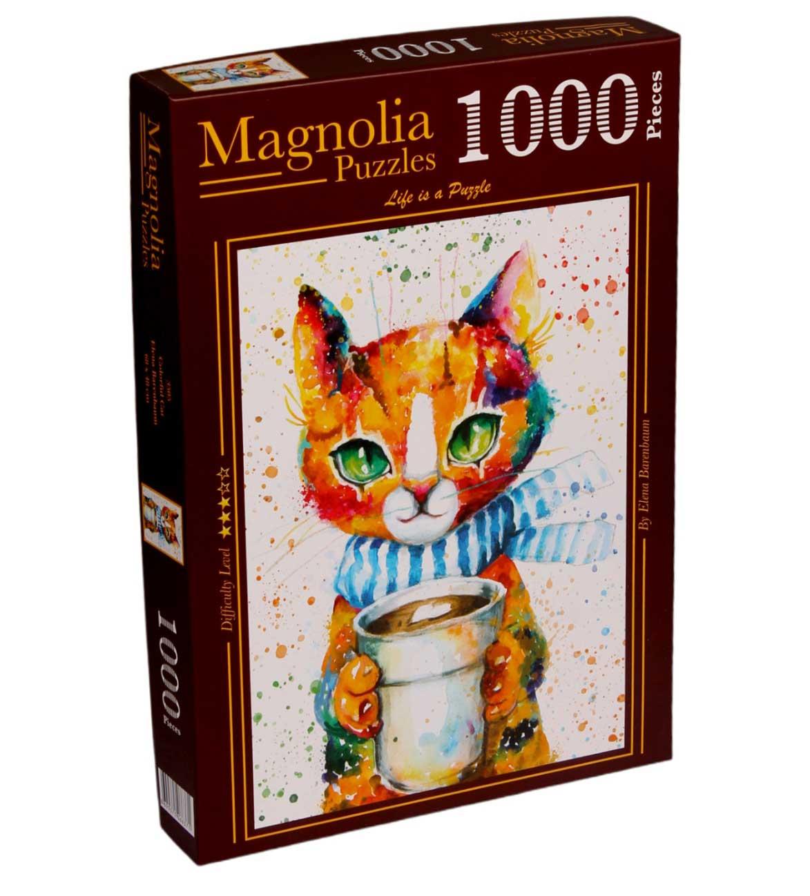 Puzzle Magnolia Gato Colorido de 1000 Piezas