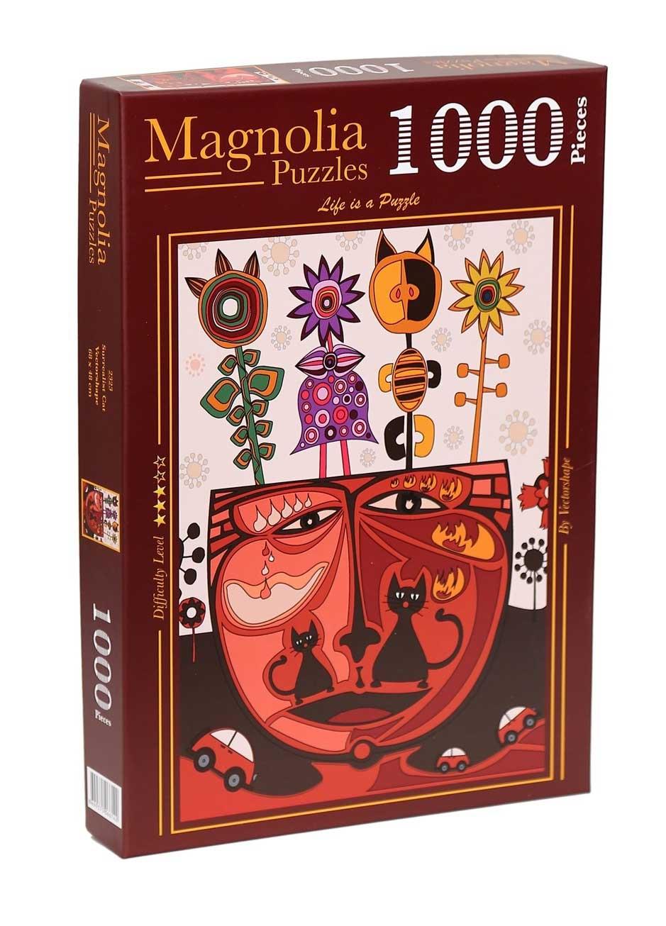 Puzzle Magnolia Gato Surrealista de 1000 Piezas