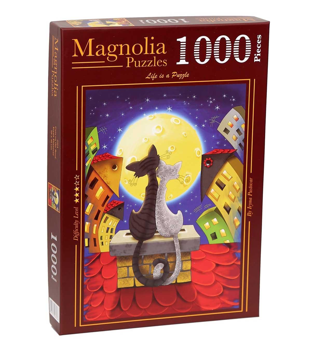 Puzzle Magnolia Gatos en el Techo de 1000 Piezas