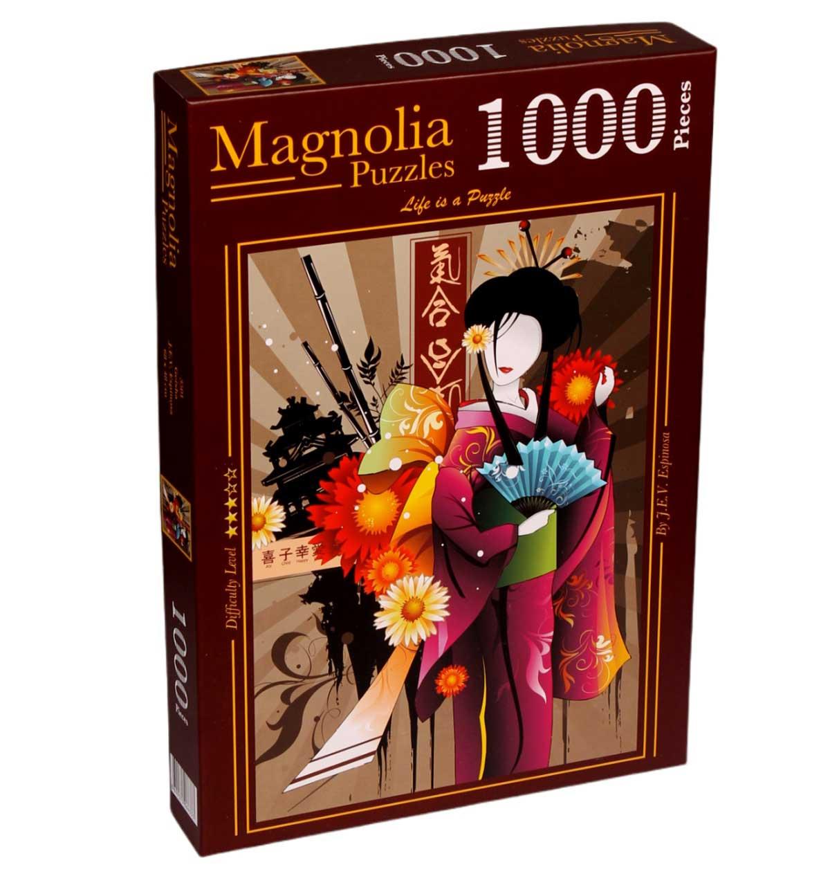 Puzzle Magnolia Geisha de 1000 Piezas