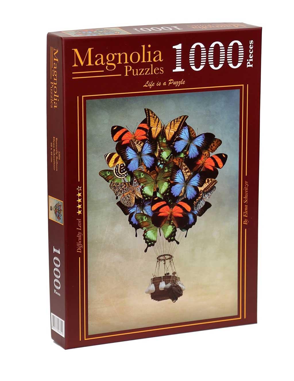 Puzzle Magnolia Globo Mariposa de 1000 Piezas