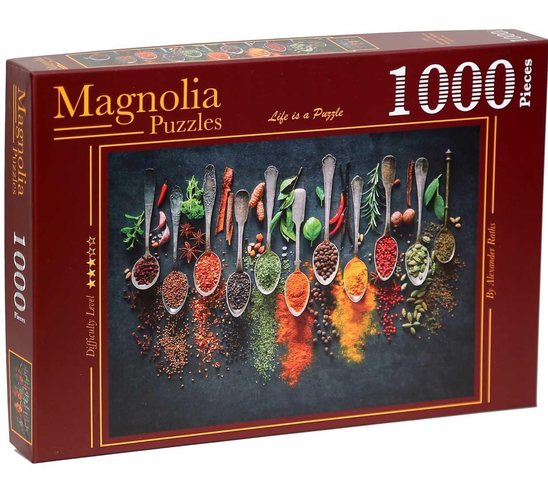 Puzzle Magnolia Hierbas y Especias de 1000 Piezas