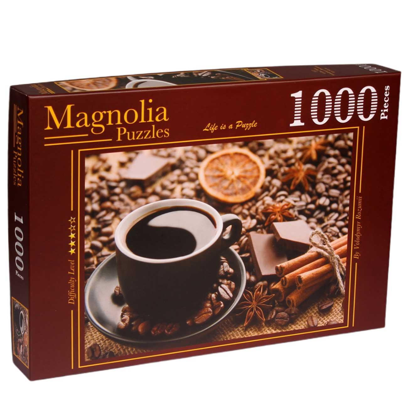 Puzzle Magnolia Hora del Café de 1000 Piezas