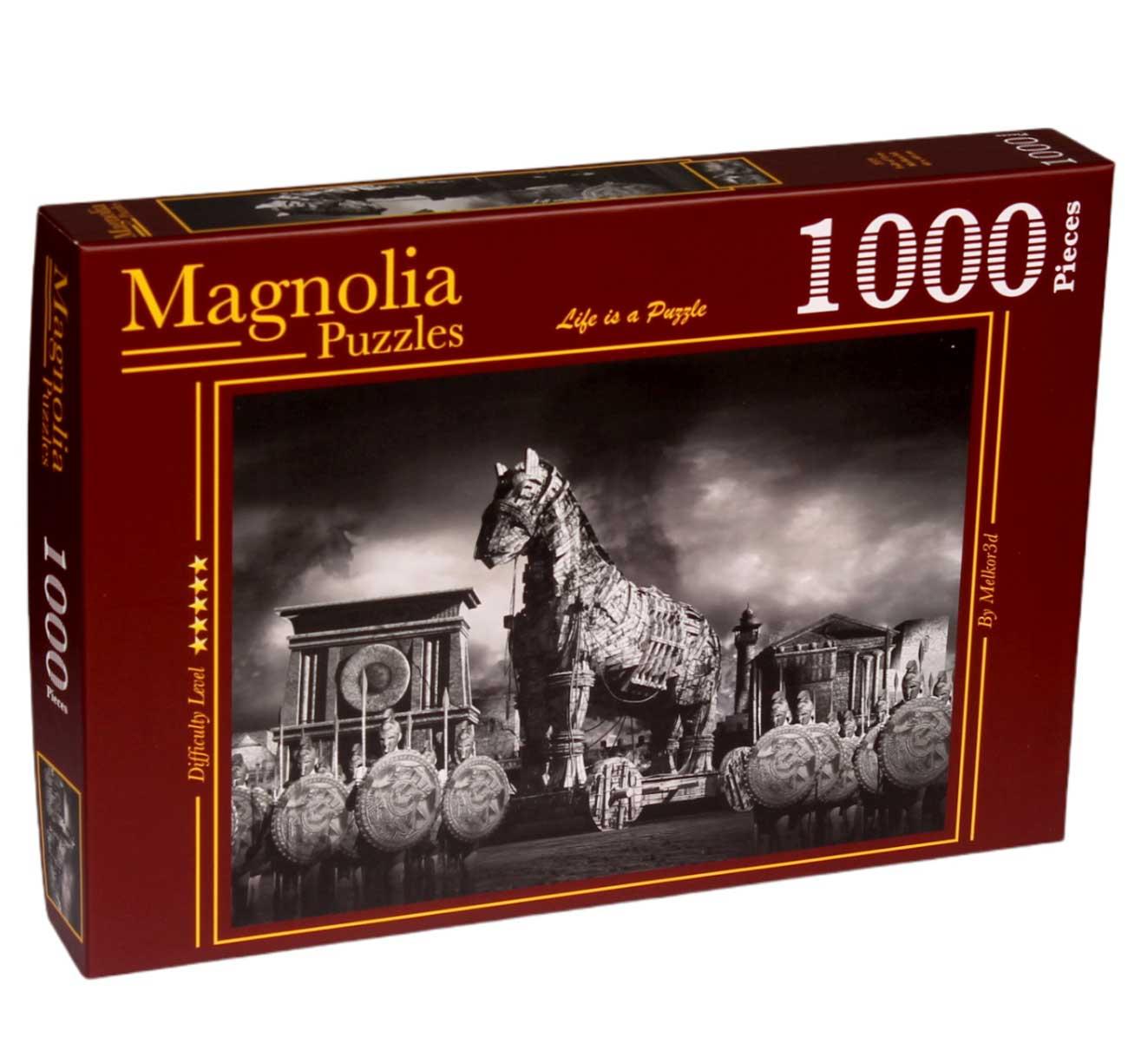 Puzzle Magnolia La Caída de Troya de 1000 Piezas