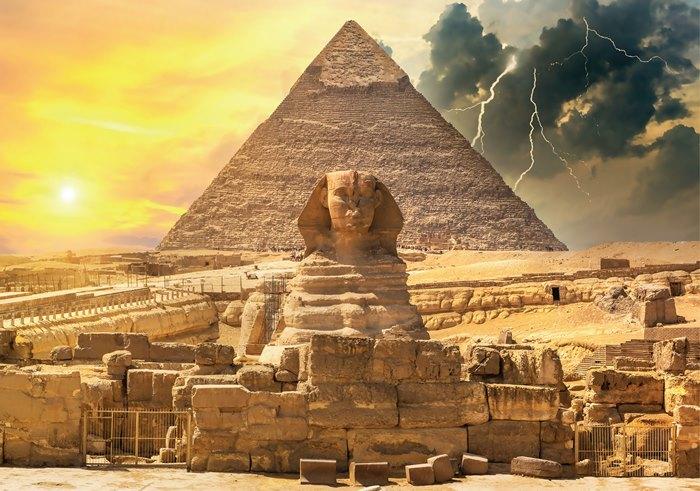 Puzzle Magnolia La Pirámide de Kefrén y La Esfinge de 1000 Pzs