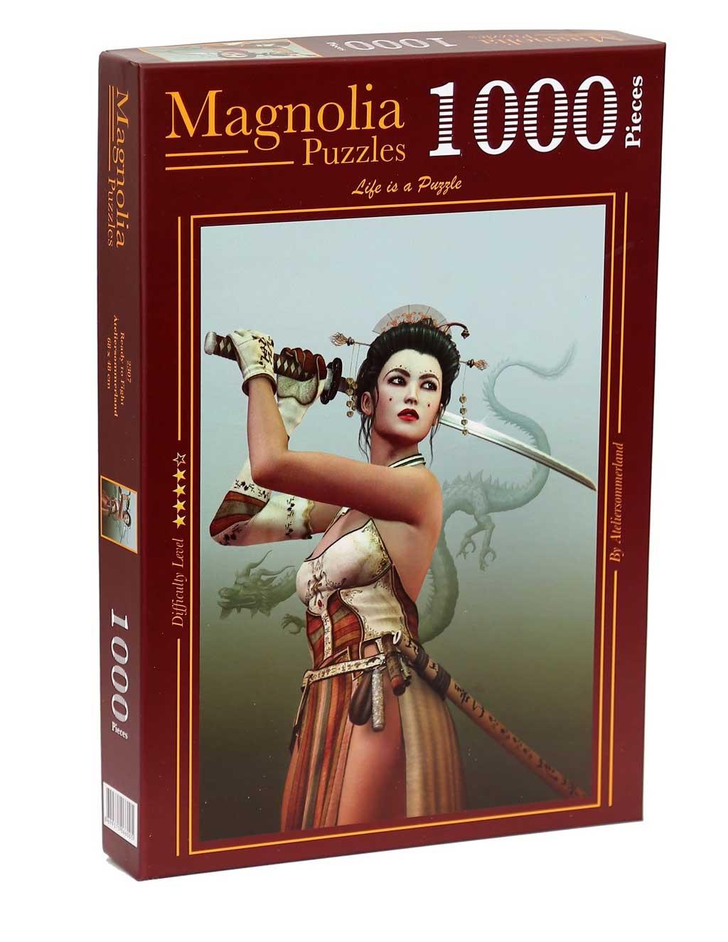 Puzzle Magnolia Lista para Luchar de 1000 Piezas