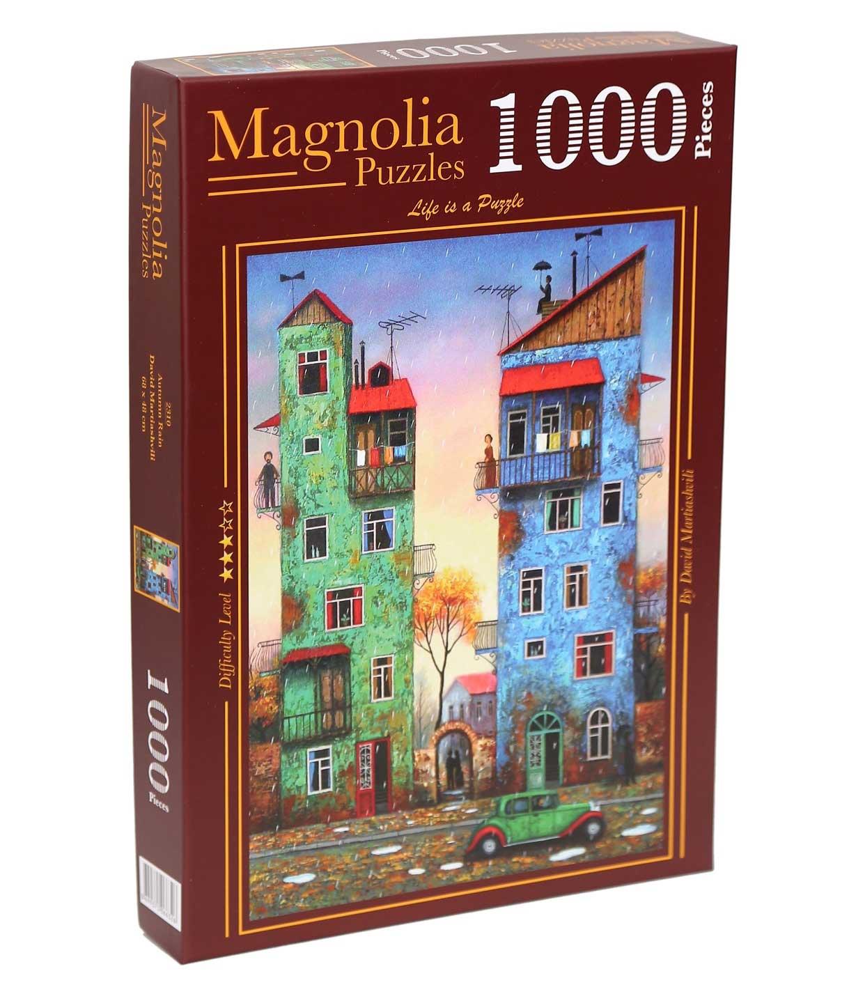 Puzzle Magnolia Lluvia de Otoño de 1000 Piezas