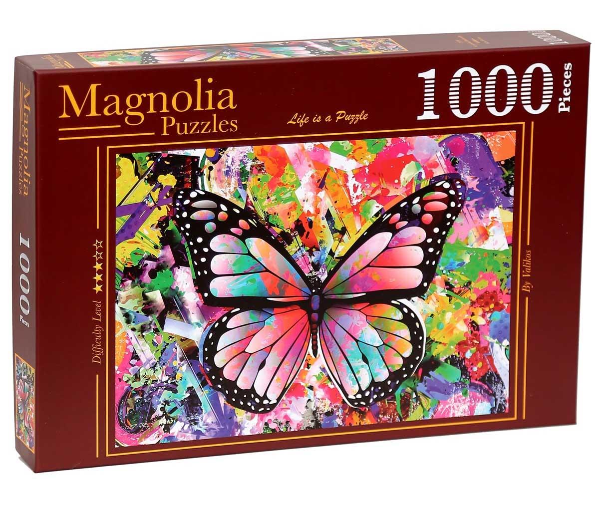 Puzzle Magnolia Mariposa Colorida de 1000 Piezas