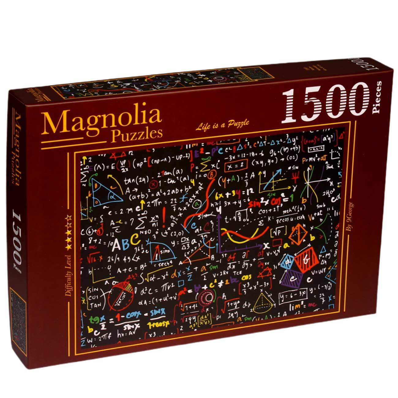 Puzzle Magnolia Matemáticas Coloridas de 1500 Piezas