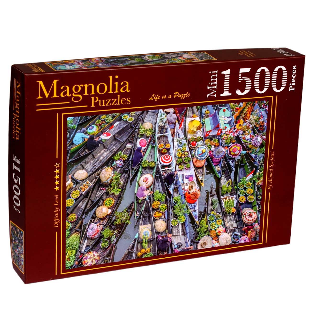 Puzzle Magnolia Mercado Flotante MINI de 1500 Piezas