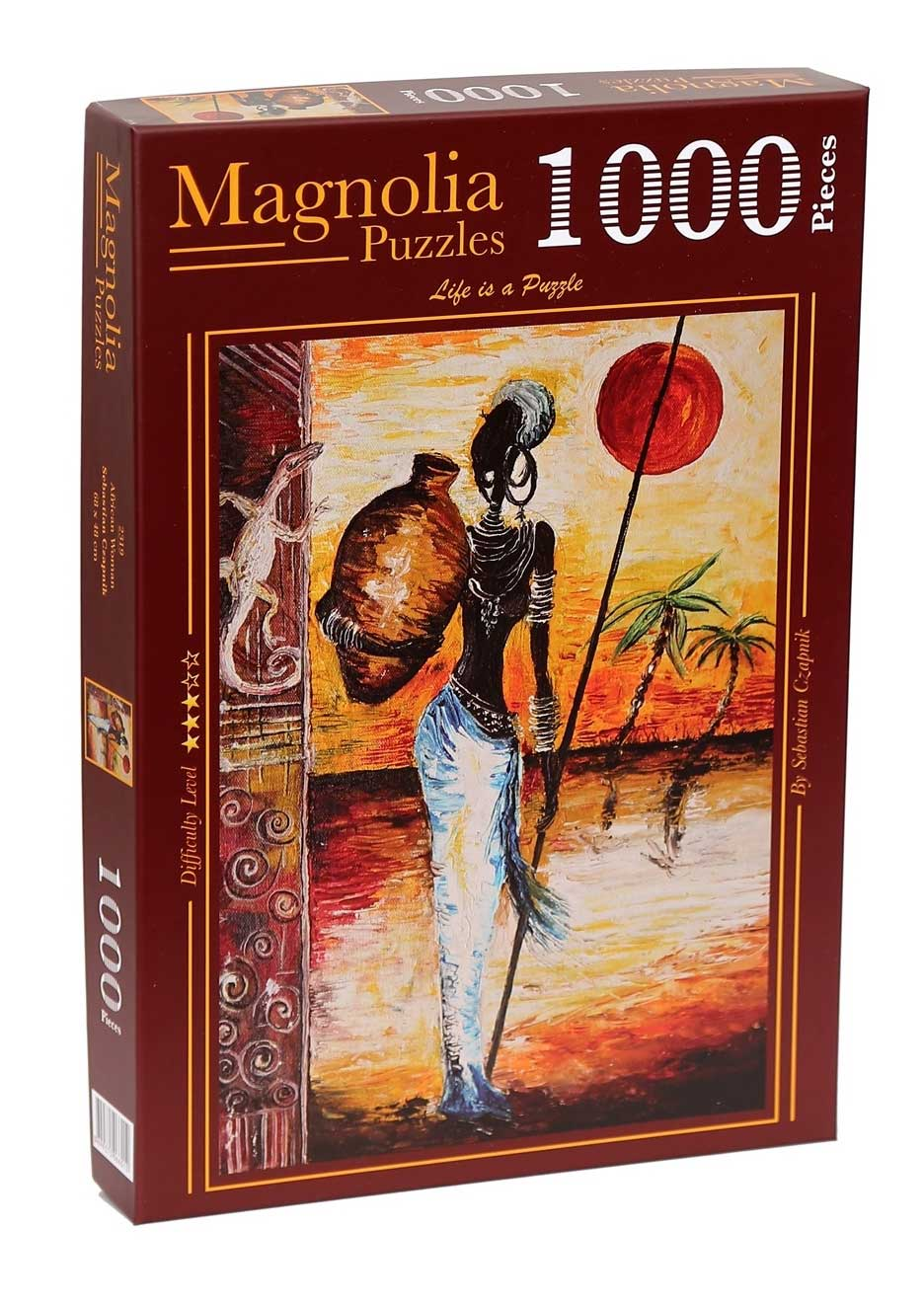 Puzzle Magnolia Mujer de Africa de 1000 Piezas