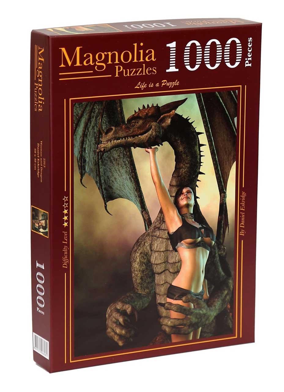 Puzzle Magnolia Mujer y Dragón de 1000 Piezas