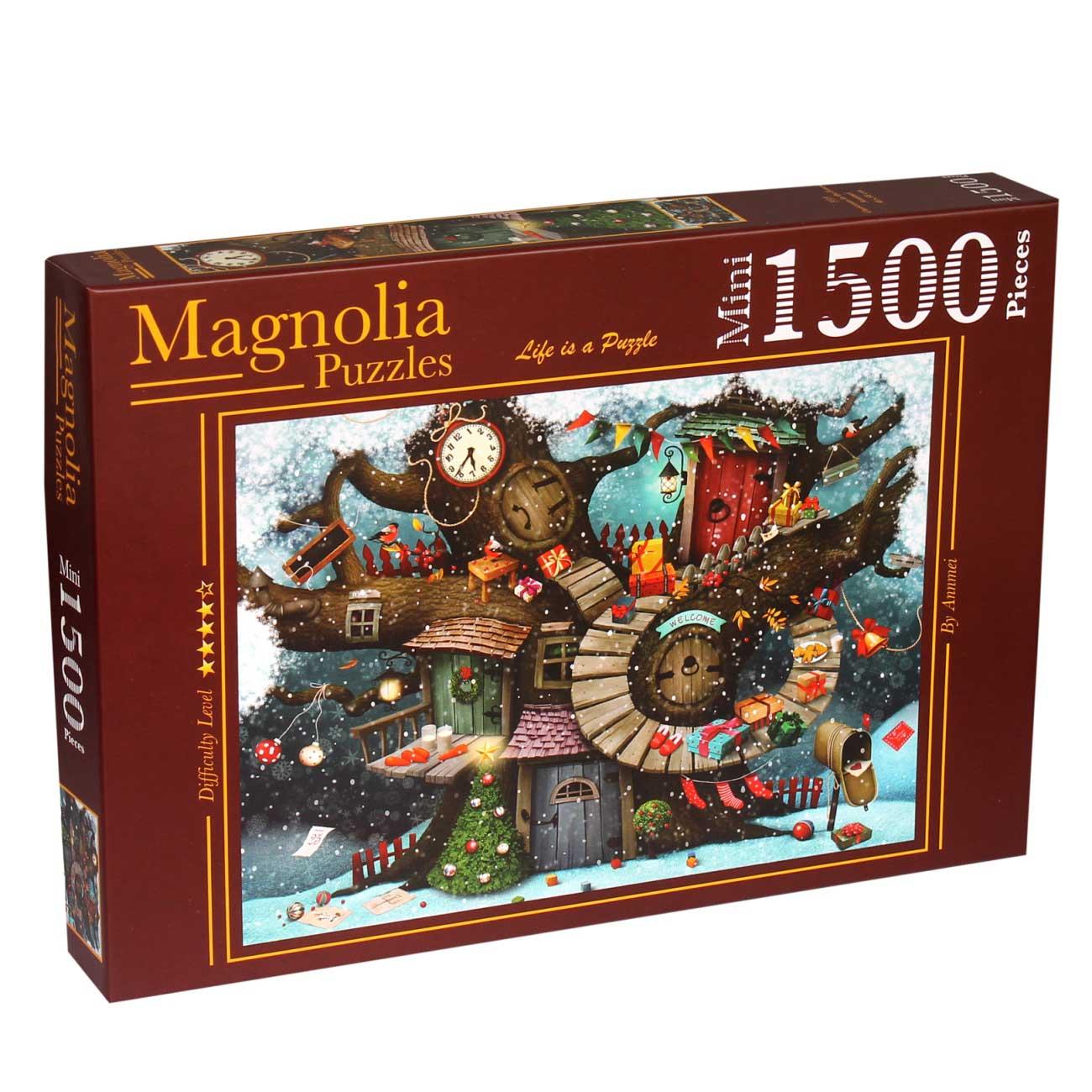 Puzzle Magnolia Navidad en el Bosque MINI de 1500 Piezas