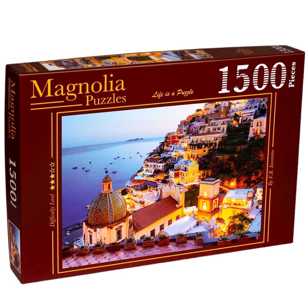 Puzzle Magnolia Paisaje de Positano, Italia de 1500 Piezas