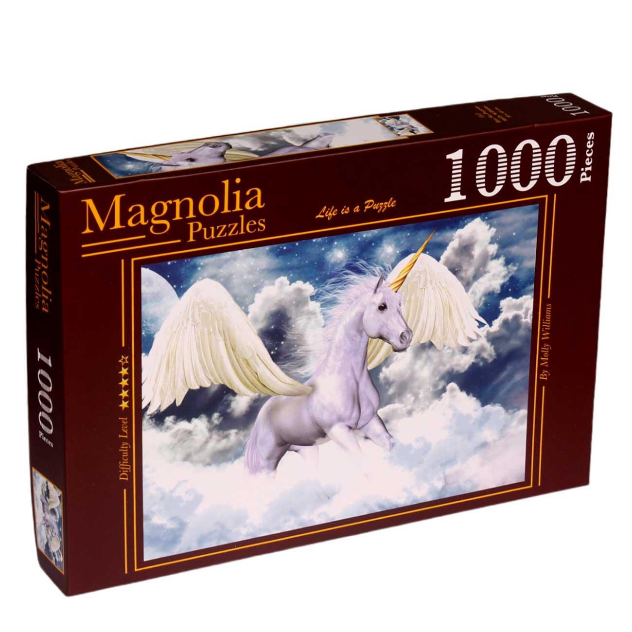 Puzzle Magnolia Pegaso en el Cielo Azul de 1000 Piezas
