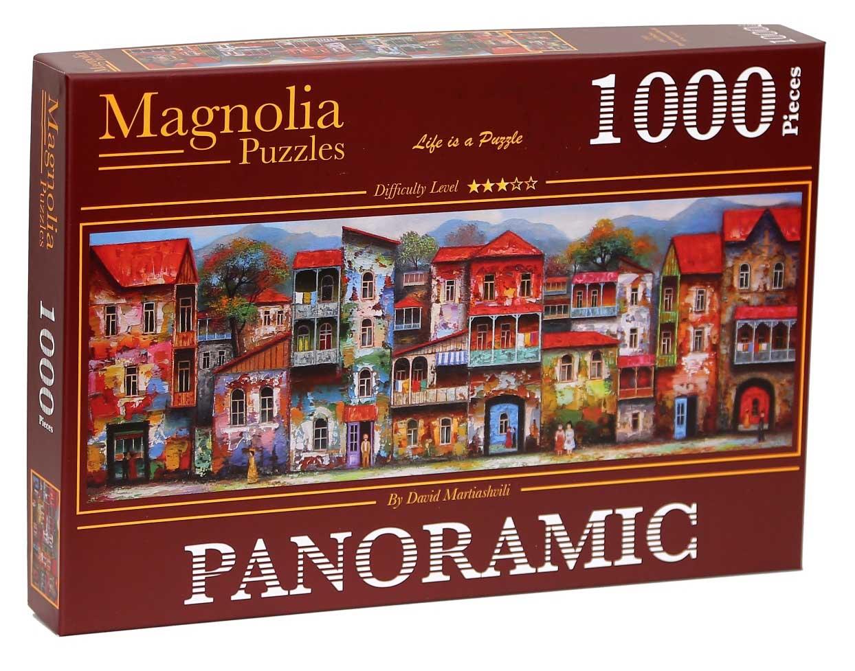 Puzzle Magnolia Viejo Tbilisi Panorámico de 1000 Piezas